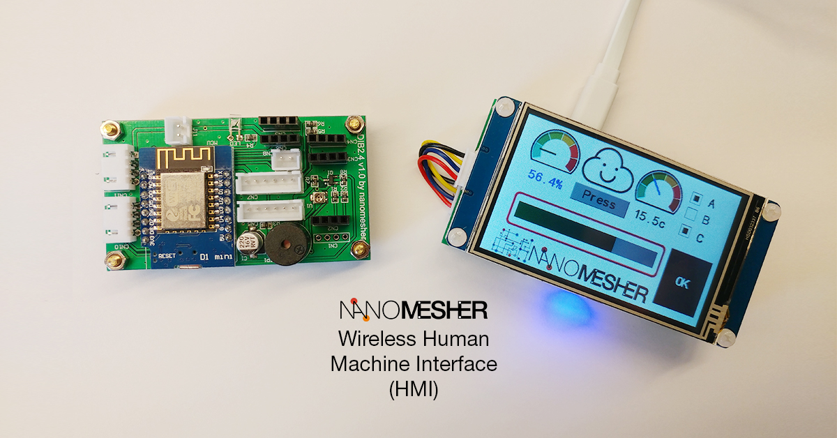 Nanomesher Wireless HMI esp8266 arduino display | Nanomesher