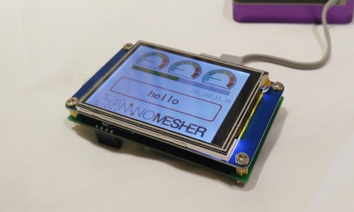 Nanomesher Wireless HMI esp8266 arduino display | Nanomesher