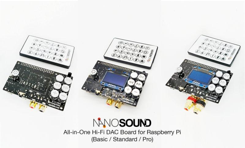 NanoSound All-in-one 24bit 192khz DAC for Raspberry Pi with OLED